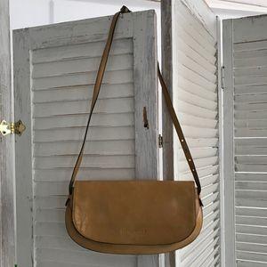 KENNETH COLE New York leather handbag clutch strap